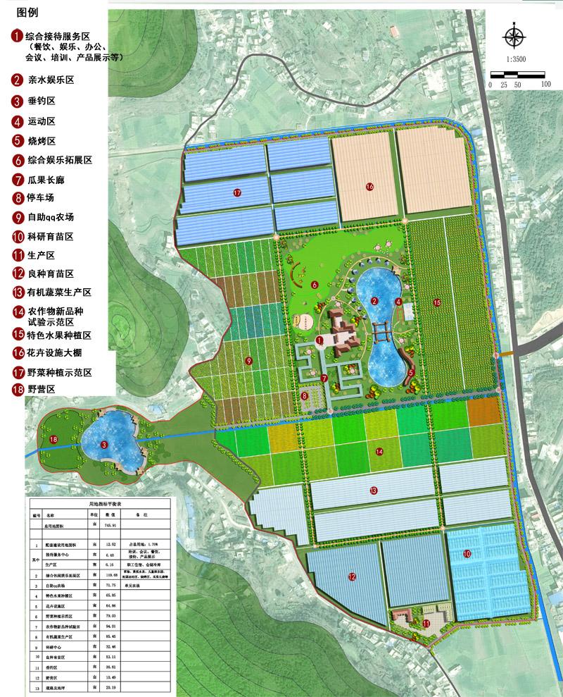 经典标准化农业示范庄园平面图图片